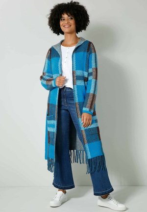Winter coat - blau braun off-white