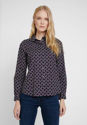 Button-down blouse - combo