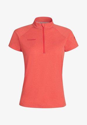 AEGILITY HALF ZIP - T-Shirt basic - poinciana melange