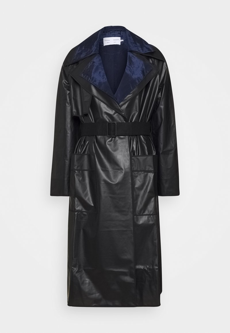 Proenza Schouler White Label - BELTED COAT 2-IN-1 - Impermeabile - dark grey