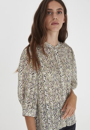 IXLIA MS - Blus - cloud dancer flower print