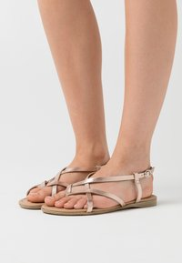 Anna Field - LEATHER  - T-bar sandals - rose gold - 0
