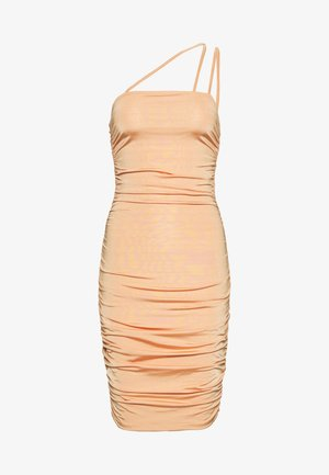 ASYMMETRIC STRAPS DRESS - Day dress - orange