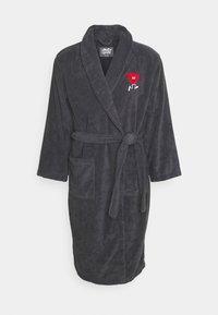 HEART BATHROBE - Dressing gown - grey