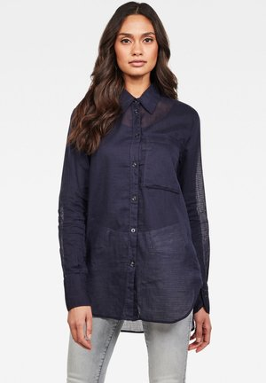 CORE 1POCKET STRAIGHT - Button-down blouse - sartho blue