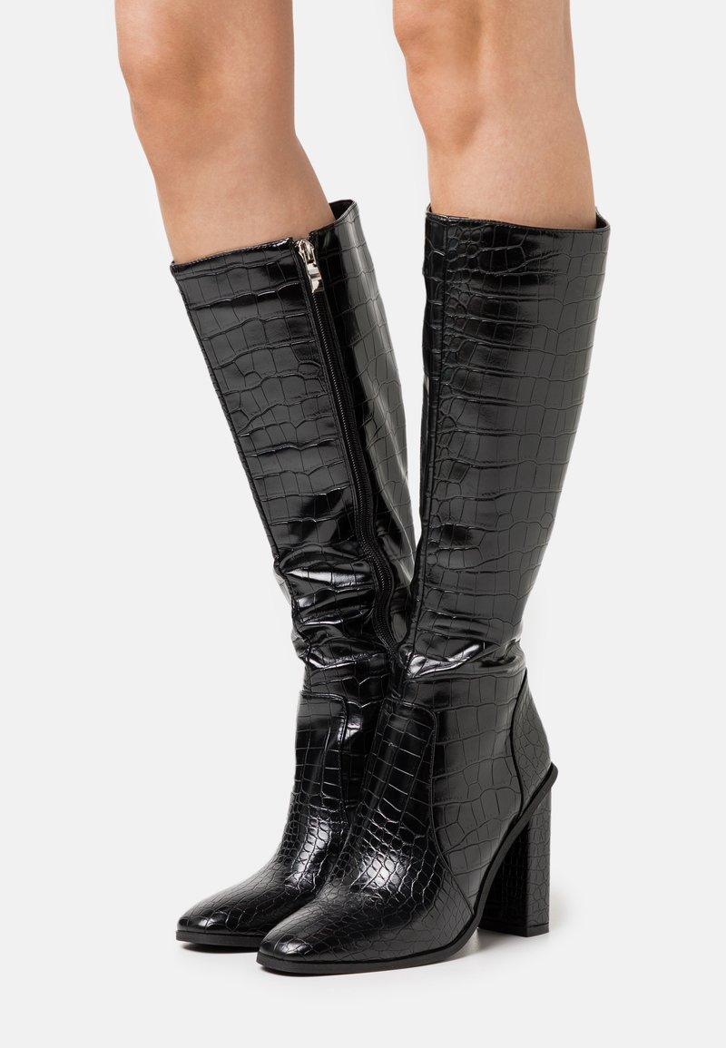 RAID - CELENI - Kozačky na vysokém podpatku - black