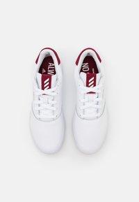 adidas Golf - ADICROSS RETRO - Golf shoes - footwear white/team college burgundy - 3