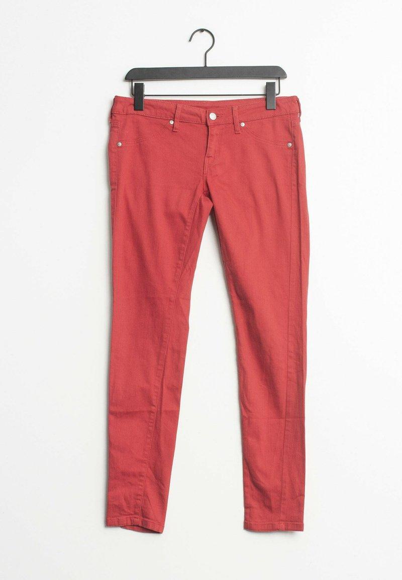 Mango - Straight leg jeans - red