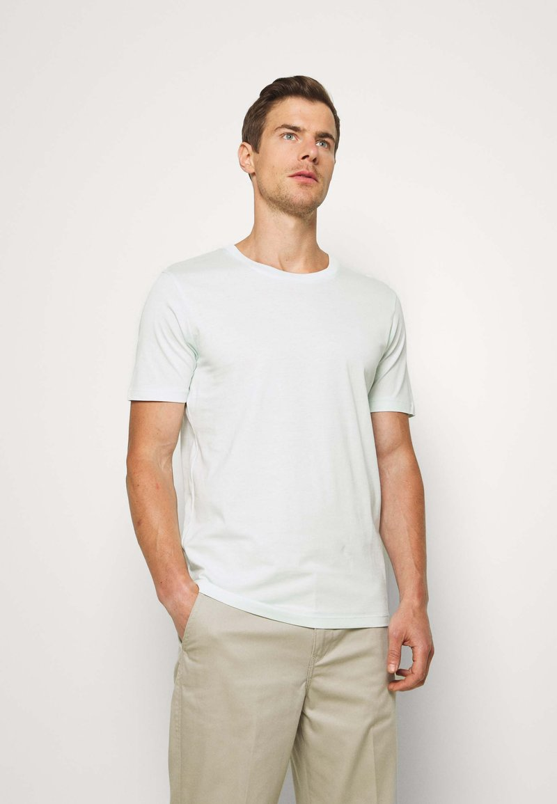 Selected Homme - SLHTHEPERFECT ONECK TEE  - T-paita - glacier