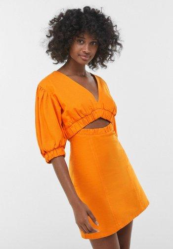Freizeitkleid - orange