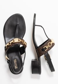 MICHAEL Michael Kors - CHARLTON - T-bar sandals - black/brown - 3