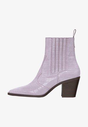 Kovbojské/motorkářské boty - purple