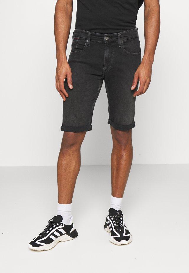 RONNIE RLXD - Szorty jeansowe - black denim