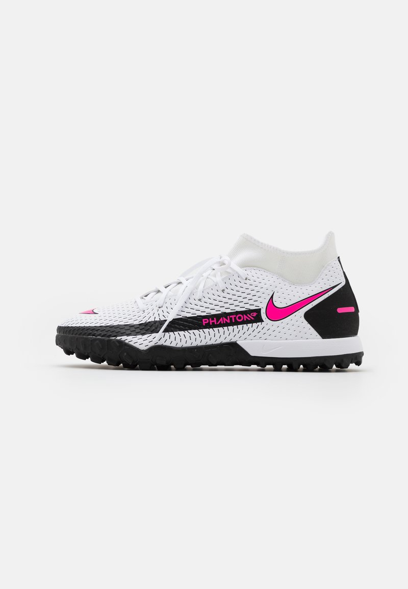 Nike Performance - PHANTOM GT ACADEMY DF TF - Astro turf trainers - white/pink blast/black