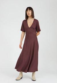 ARMEDANGELS - ROSAMAARY - Maxi dress - aubergine - 1