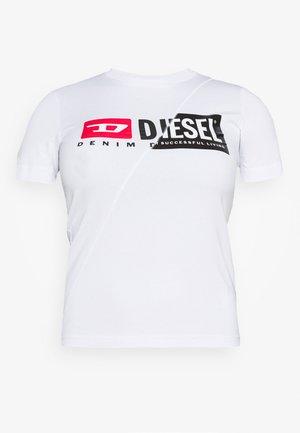 SILY CUTY - Print T-shirt - white