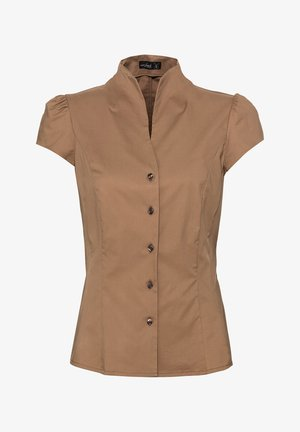 M-ALIAS - Button-down blouse - beige/braun