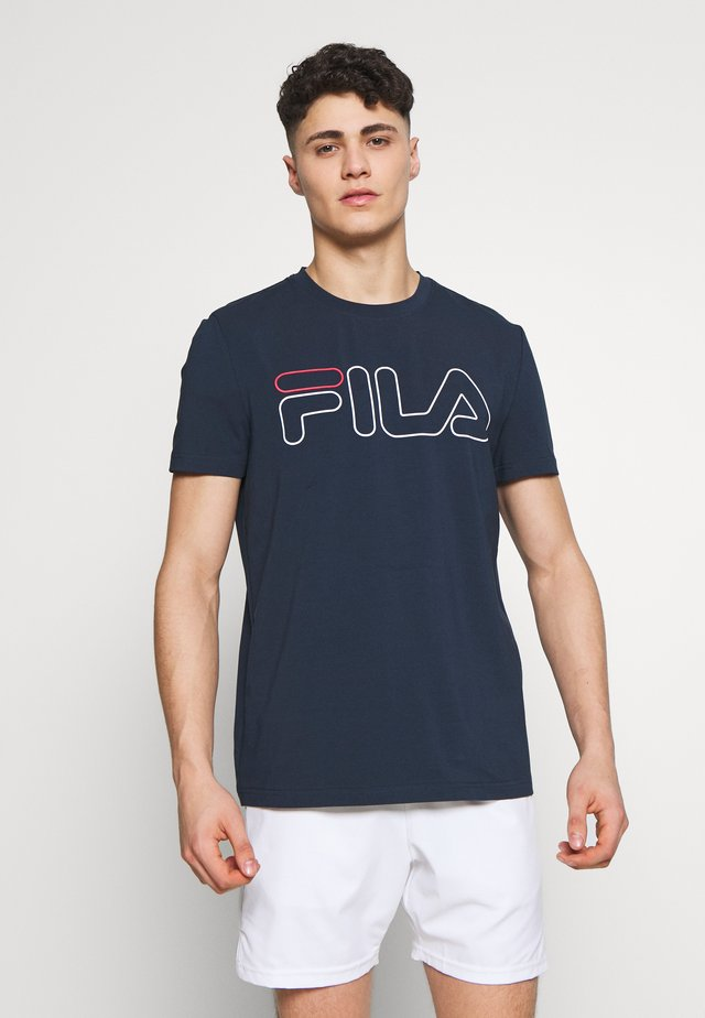 RICKI - T-shirt print - peacaot blue