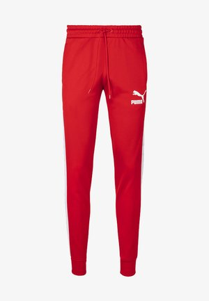 PUMA ICONIC T7 KNITTED MEN'S TRACK PANTS MALE - Pantalon de survêtement - high risk red