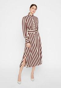YAS - Shirt dress - rum raisin - 5