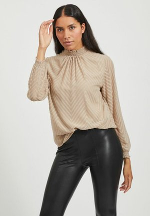 VIMICHELLE HIGH NECK - Blouse - simply taupe