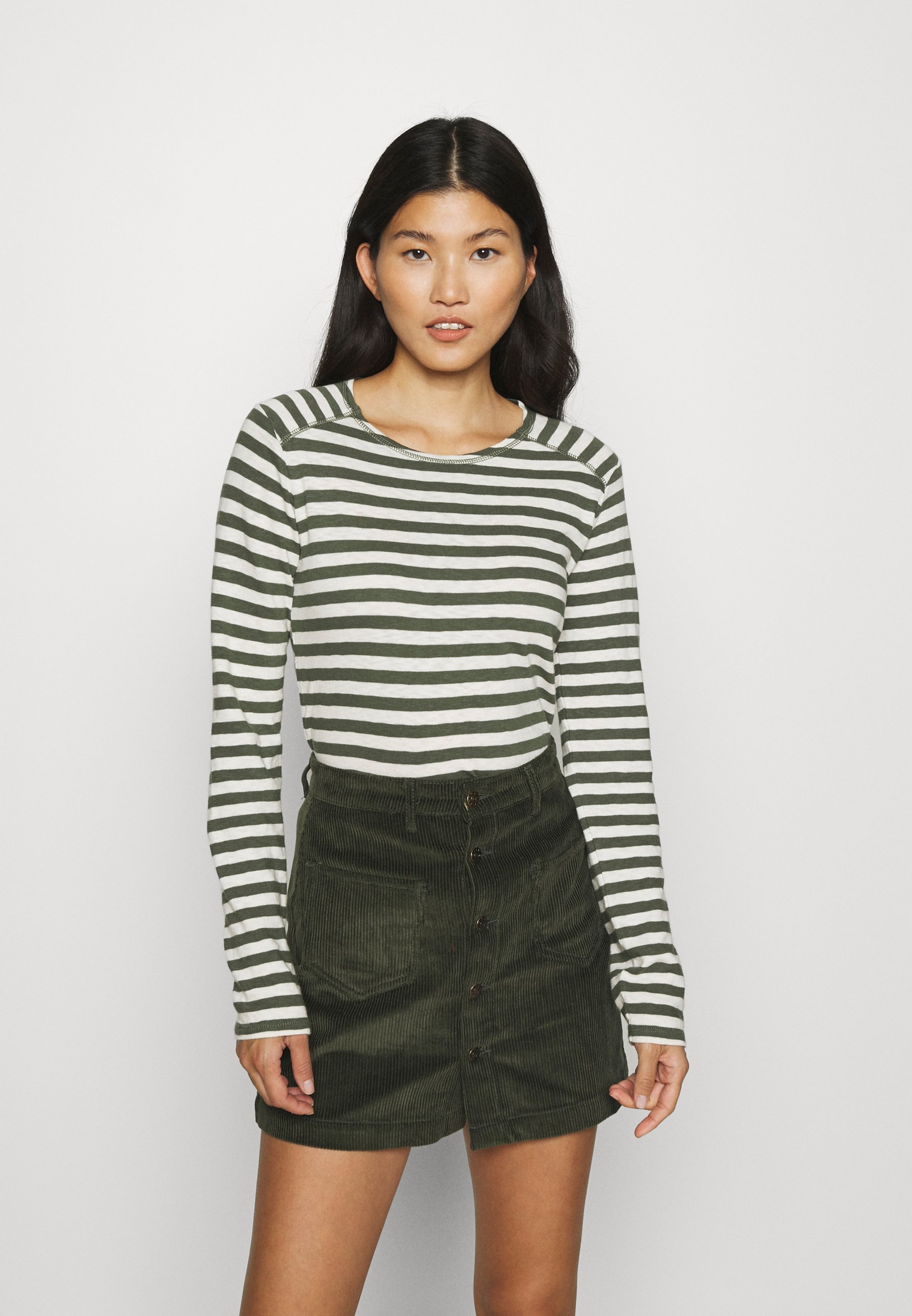 Women LONGSLEEVE ROUNDNECK SHOULDER INSERT - Long sleeved top