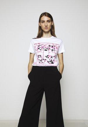 EKAPET - T-shirt z nadrukiem - white