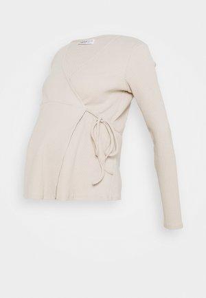 LADIES WRAP - Maglietta a manica lunga - ecru