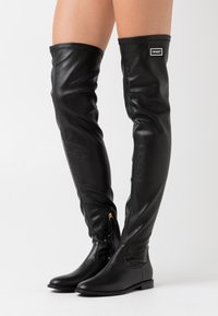 TWINSET - STIVALE TACCO BASSO CON GAMBALE STRETCH - Over-the-knee boots - nero - 0