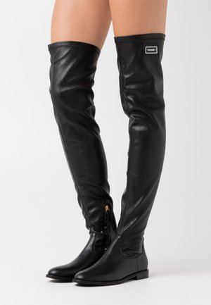 STIVALE TACCO BASSO CON GAMBALE STRETCH - Over-the-knee boots - nero