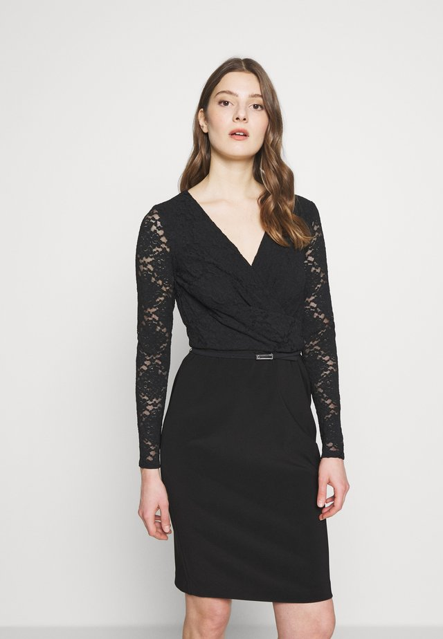 BONDED DRESS - Cocktailkjole - black