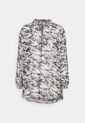 SELLA - Long sleeved top - black/white/silver