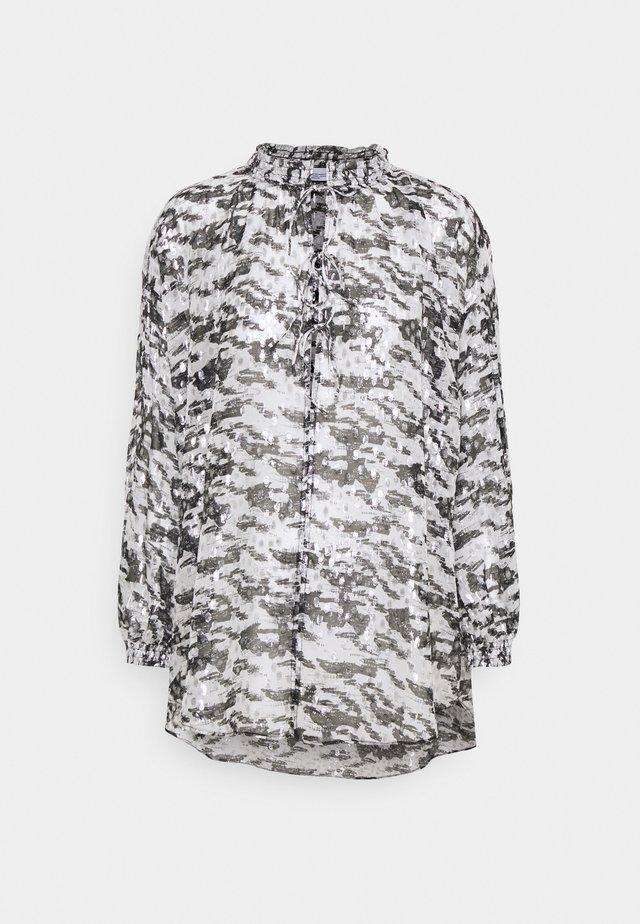 SELLA - T-shirt à manches longues - black/white/silver
