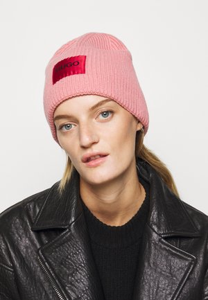 XAFF RIBBED LOGO - Bonnet - dark pink