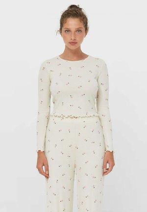 MIT BLUMENPRINT  - Long sleeved top - beige