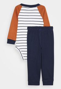 Carter's - KOALA STRIPE SET - Pantaloni sportivi - dark blue/brown - 1