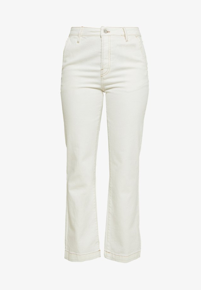 Relaxed fit jeans - ecru