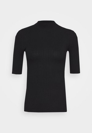 BASIC- elbow sleeve jumper - Jumper - black