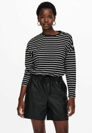 GESTREIFT - Long sleeved top - black