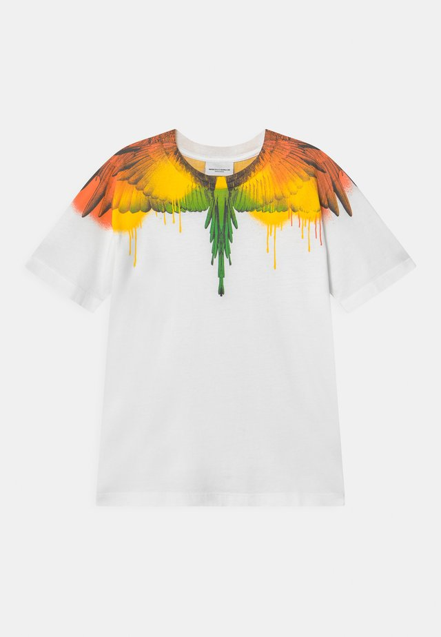 WINGS SPRAY - T-shirt con stampa - white