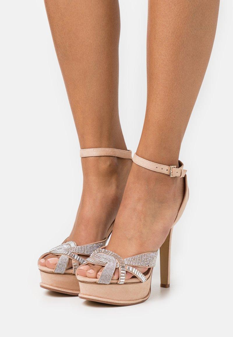 ALDO - LACLABLING - Sandaler med høye hæler - bone