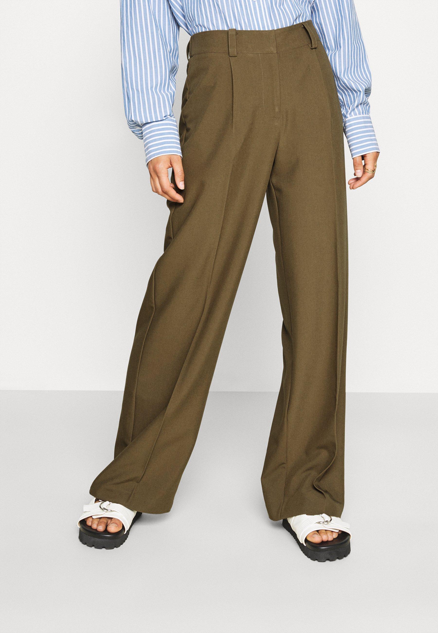 Donna YASCARLA WIDE PANT - Pantaloni
