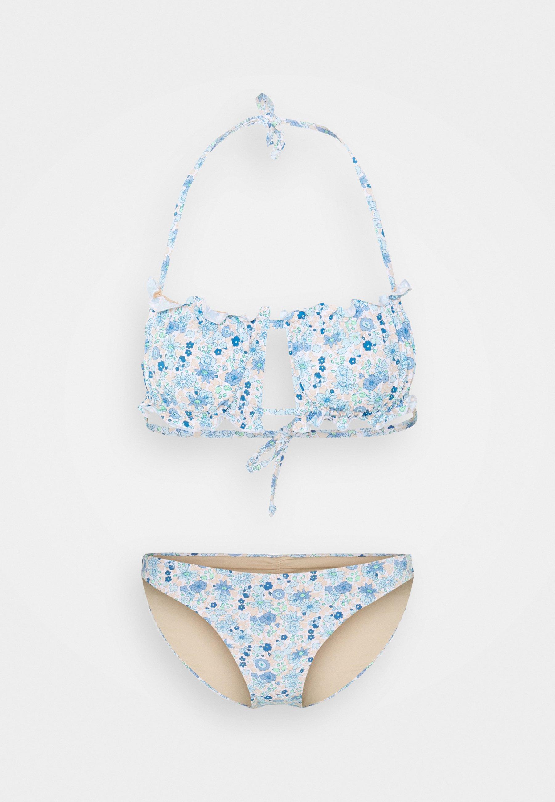 Women GATHERED BACKLESS BANDEAU GATHERED BUM FULL - Bikini