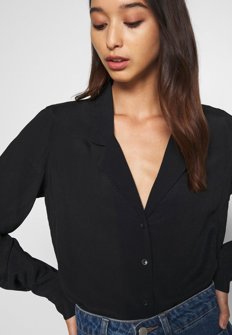 Nly by Nelly THE BLOUSE - Hemdbluse - black/schwarz wrXrgN