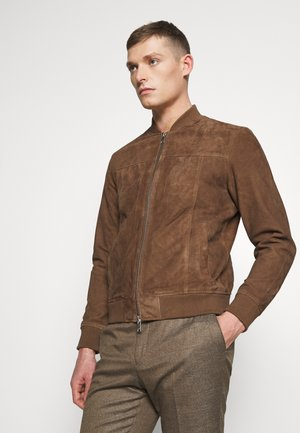 SLHKANE - Leather jacket - walnut