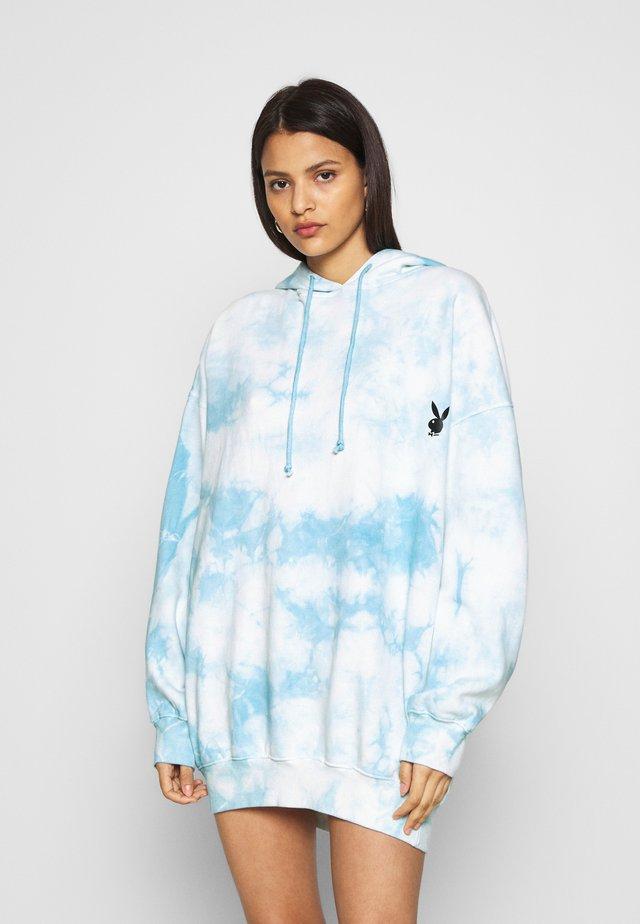 PLAYBOY OVERSIZED HOODY DRESS - Vestito estivo - blue
