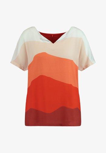 Print T-shirt - red/orange