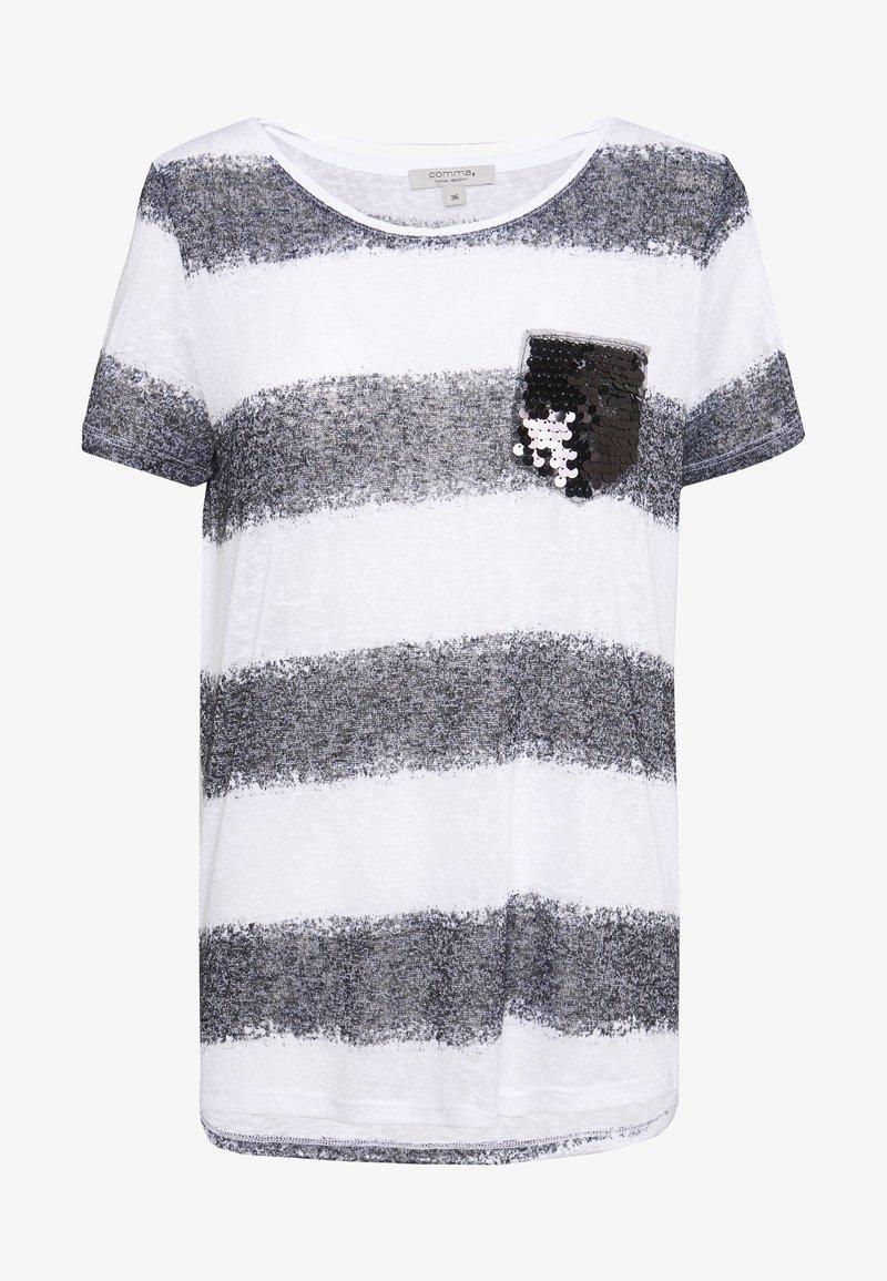 comma casual identity - Print T-shirt - grey/black