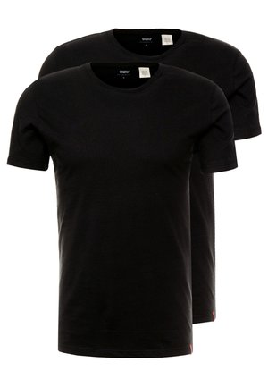 SLIM CREWNECK 2 PACK - T-Shirt basic - black