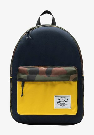 Rugzak - peacoat/woodland camo/lemon ch